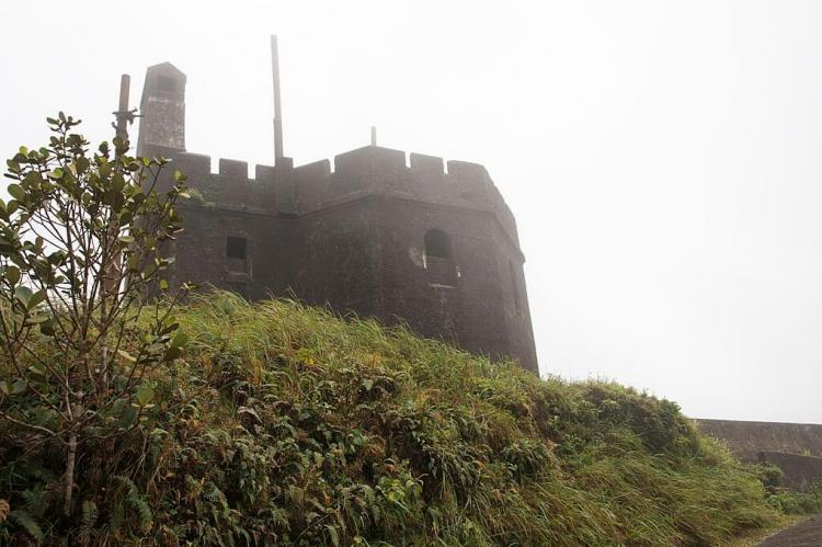 Small castle at the top of El Yunque Rain Forest, Puerto Rico