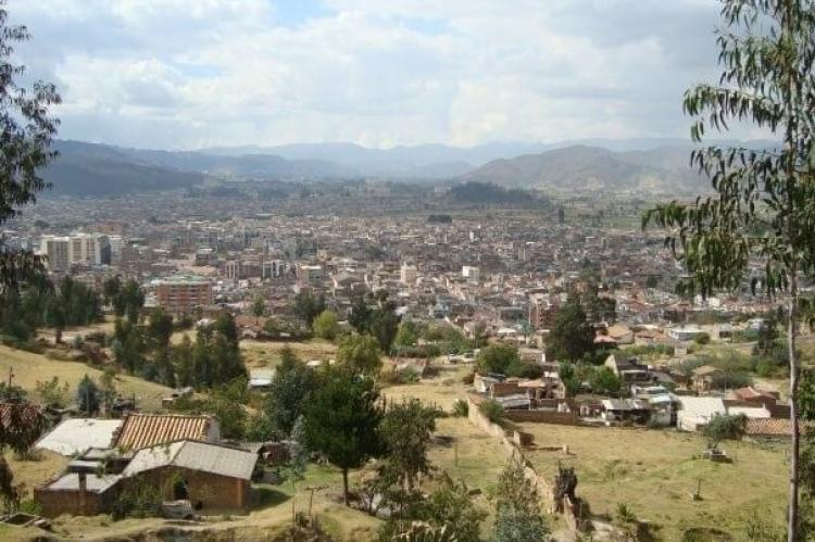 View of Sogamoso in the Iraca Valley, Colombia