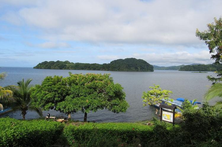 View onto Lake Nicaragua and the Solentiname Archipelago