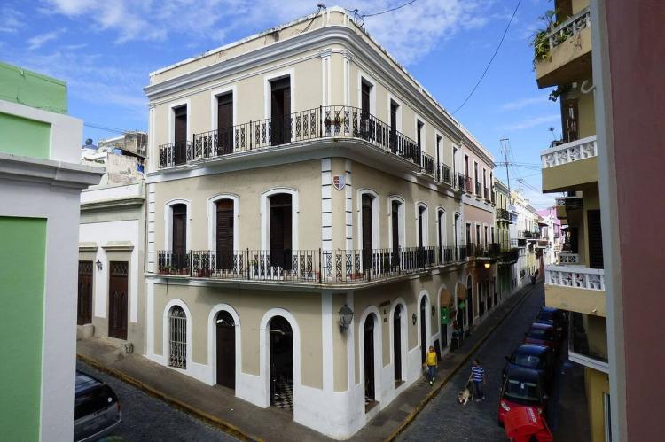 An example of the Spanish Colonial architecture in Old San Juan, Puerto Rico