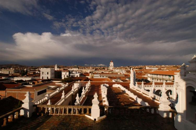 Rooftop panorama, Sucre, Bolivia