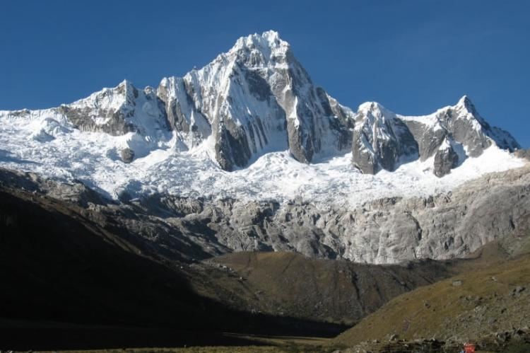 Taulliraju mountain in Huascarán National Park, Peru