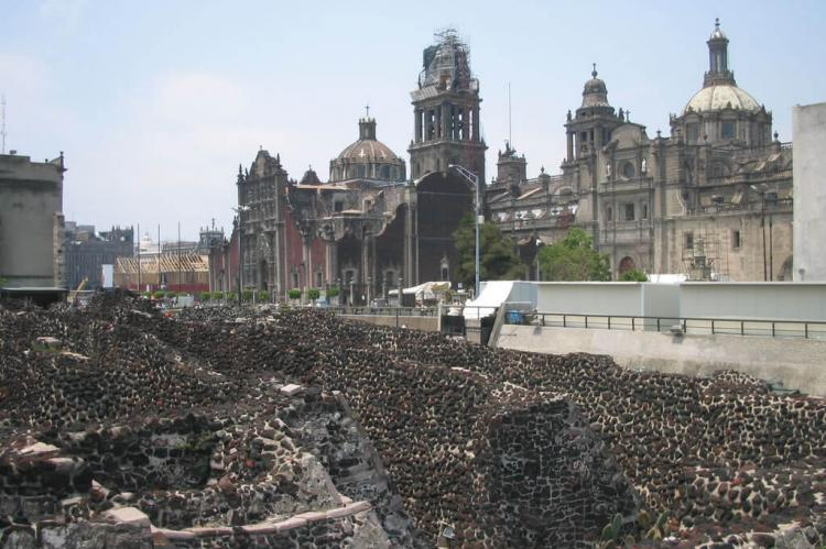 Templo Mayor and Metropolitan Cathedral of Mexico City