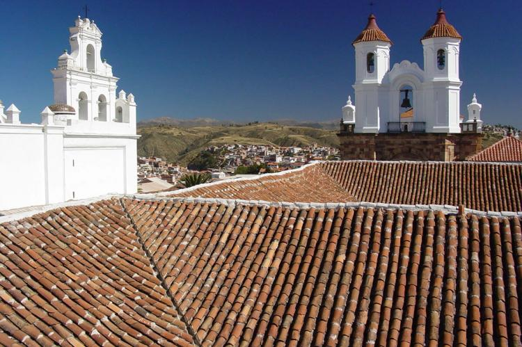 Tiled Roofs and Colonial Architecture - Sucre - Bolivia