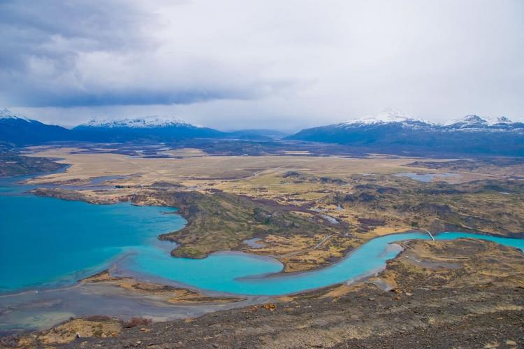 Aerial view of Torres del Paine, Patagonia, Chile