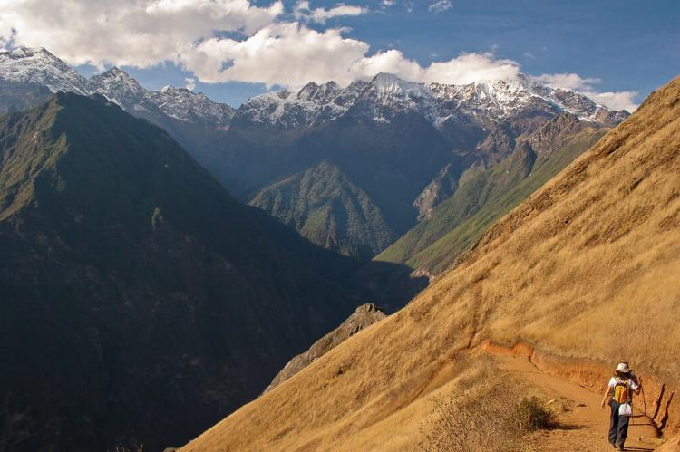 Trail from Cachora to the Inca ruins of Choquequirao, Peru