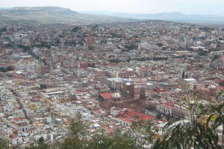Aerial view of Zacatecas, Mexico