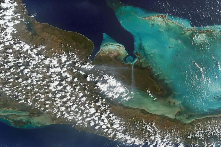 NASA satellite photo of the Zapata Biosphere Reserve, Cuba