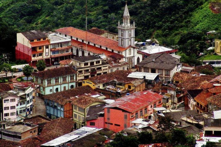 View of Zaruma, Ecuador