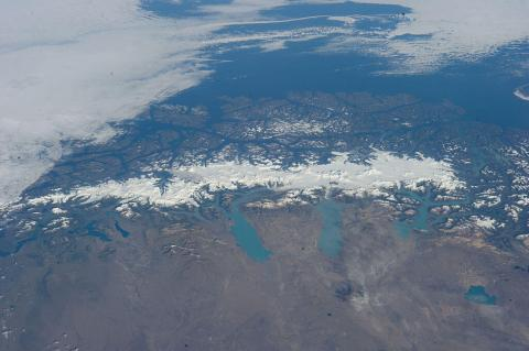 Aerial view of Southern Patagonia Ice Field, Chile