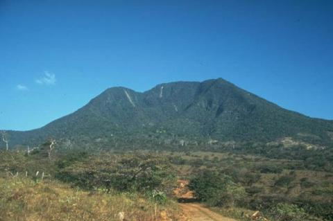 The highest peak of the Orosí volcanic complex, Cacao Volcano, Costa Rica