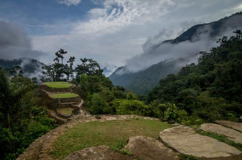 View of Ciudad Perdida, Colombia
