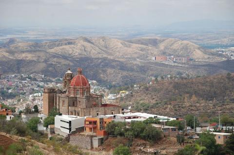Aerial view of Guanajuato, Mexico