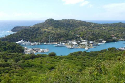 Nelson's Dockyard view from Shirley Heights, Antigua