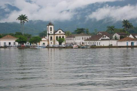 Paraty from the bay (Brazil)