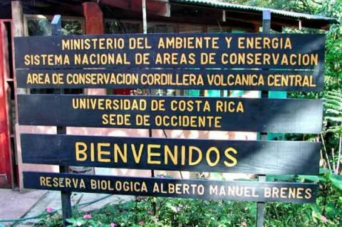 Entrance to Alberto Manuel Brenes Biological Reserve, Costa Rica
