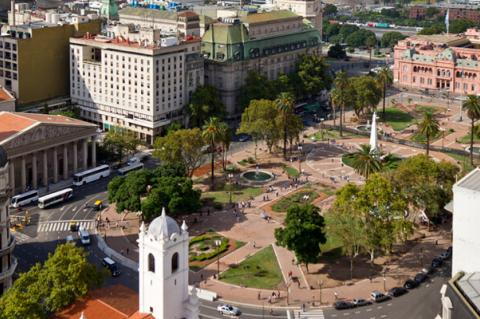 View of Plaza de Mayo, Buenos Aires, Argentina