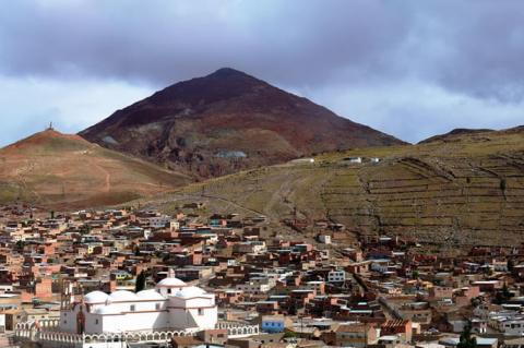 Panorama of the city of Potosí, Bolivia