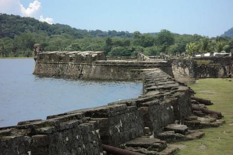 View of San Lorenzo fortifications (Panama)