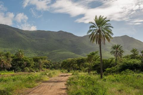 Copey Hill – view from San Juan Bautista Valley, Isla Margarita, Venezuela