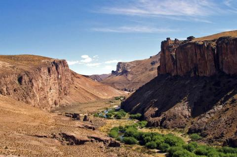 Canyon of the Río Pinturas, where the Cuevas de las Manos is located in the Santa Cruz Province, Argentina