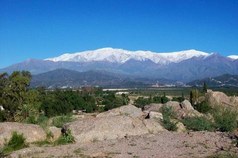 View of the Sierra de Famatina from Chilecito , in the Argentine province of La Rioja