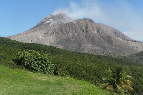 Soufriere Hills volcano on the Caribbean Island of Montserrat