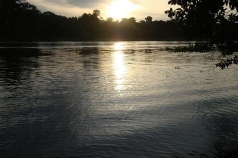 Sunset in the Tortuguero National Park, Costa Rica