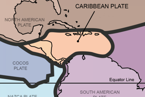 Tectonic plates of the Caribbean