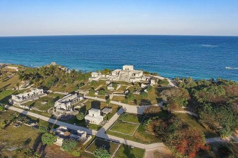 Aerial view of Tulum Mayan Ruins (Mexico)