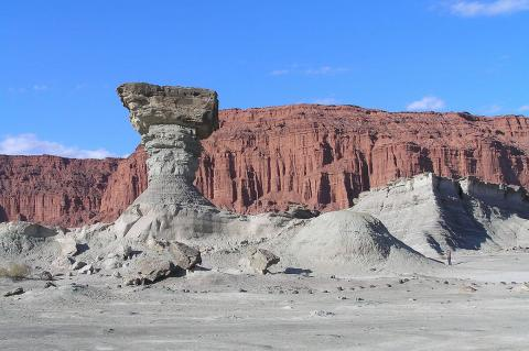 Ischigualasto or Moon Valley, the fungus training, Province of San Juan, Argertina