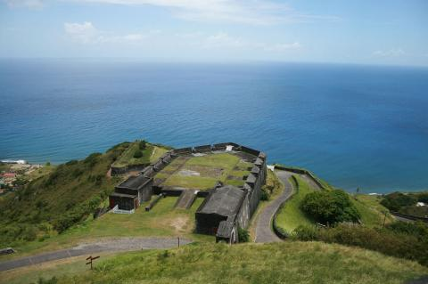 View of Brimstone Hill Fortress, Saint Kitts