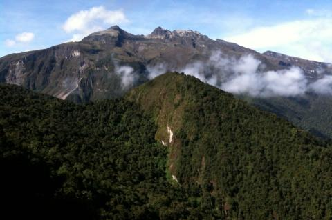 Yanacocha - in the shadow of Pichincha Volcano In Northwest Ecuador's cloud forest