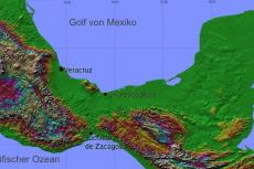 Relief map of Isthmus of Tehuantepec