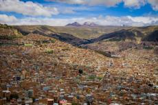 Panorama of La Paz, Bolivia