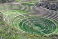 Inca terraced ruins at Moray, Peru