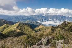 Panorama of the Serra da Mantiqueira mountain range, Brazil