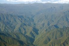 Talamanca mountain range in Costa Rica and Cordillera central in Panama (left side)