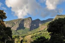 View of the Serra do Caparaó from the mining town of Alto Caparaó, Brazil